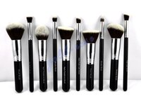 Goat Hair max factor - High quality HOT Makeup Brushes piece Professional Brush sets white black set gift