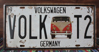 Wholesale new VOLK T2 VOLKSWAGEN Wall Decoration Vintage Metal Painting Retro Poster License Plate Home Decor Art Tin Plate CM Tin Signs