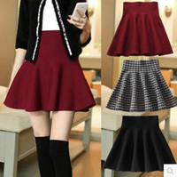 Wholesale Women Winter Skirt Short Design Fashion Skirts Girl Slim Hip High Waist Woolen Skirts For Spring Autumn Winter Above Knee