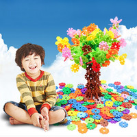Wholesale SET Children Kid Gifts Plastic Snowflake Building Blocks Educational Puzzle Toy New
