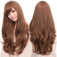 Wig average temperatures - 1PC Fashion Long Sexy Style Natural Wave Blonde Hair Wigs High Temperature Synthetic Lolita Wig Women Stylish Curly Wig Free