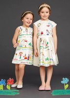 cotton clothing for children - Children Clothing for Girls Clothes Brand Designer Girls Dresses Autumn Kids Clothing Party Dresses Printed Dobby Princess Girl Dress