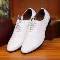Wholesale BJ Factory Brand New Fashion Men Dress Shoes For Man White Leather Oxford Shoes Male Wedding Shoe Office Work Shoes