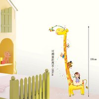 bathroom height - bedroom decoration removable wall stickers bedroom bathroom backdrop height stickers Giraffe Wall Sticker height stickers AY1921