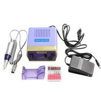 acrylic nails equipment - 30000RPM Purple Nail Art Equipment Manicure Tools Pedicure Acrylics Electric Nail Drill Pen Machine NAS_237
