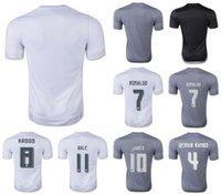 La calidad de Tailandia! 15-16 Estación de Madrid uniforme del fútbol del fútbol de los jerseys del bordado Logos # 7 Ronaldo # 8 Kroos # 10 # 11 James Bale 9 Benzema