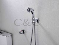 Wholesale Multifunctional Thermostatic Pet Cleaner Wall Mounted Chrome Portable Shattaf Bidet Gun A801D