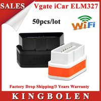 Wholesale New Arrival Vgate WiFi iCar OBDII ELM327 iCar2 wifi vgate OBD diagnostic interface for iOS Android colors