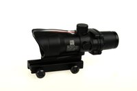 Rifle Scope acog red - Trijicon x32 ACOG Style Optical Tactical Scope Real Fiber Optic Red Crosshair coating Weaver Riflescopes Combat Gunsight For Hunting