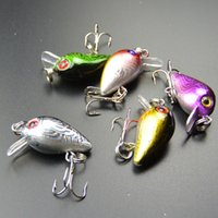 5pcs pêche de haute qualité leurre 3cm 1.5g petit poisson surface appât méné crankbait 6 # crochet yeux 3D de pêche