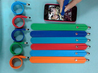 apple slap - Silicone Slap Band Bracelet Stylus Pen Wrist Touch Pen For Phone Ringball Screen Touch Pen Rubber Touch Pen Slap Band With Touch Pen