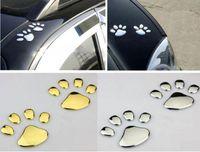Wholesale Decal Sticker D Car Emblem Logo Paper Dog Footprints Vehicle Motor Funny Lovely