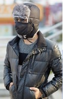 Wholesale Ear cap trapper hat outdoors in winter thick warm ski cap with a mask color optional