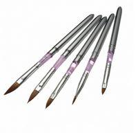 Wholesale Sable Acrylic Pen Nail Art Brush Detachable Supplies Kolinsky Brushes Set Wholesales No