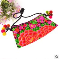womens wholesale handbags - 2015 New Fashion Womens Embroidery Bags Embroidered Balls Shoulder Messenger Bag Women s Day Clutch Cover Handbag
