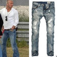 Wholesale high quality mens destroyed jeans Leisure Casual hole jeans for man fashion men s jeans brand Men Jeans pants