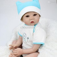 Cheap Wholesale-22 inch Collectible Reborn Baby Dolls Silicone Doll Handmade Realistic Lifelike Babies Born Toys So Cute Fake Baby Boy