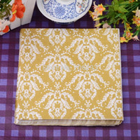 Wholesale 330MMX330MM colored facial tissue paper napkin paper printing handkerchiefs for wedding birthday favors gift with abstract print