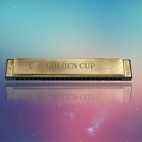 Wholesale The quot golden cup quot hole closed antique C Harmonica Factory sales