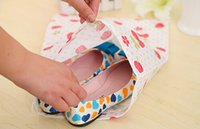 clothes and shoes - Portable travel drawstring shoe bag thickening print non woven shoes storage bag and dust bag