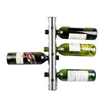 Precio de Bastidores de almacenamiento de vino-2016 Creativa de vino Práctica Los titulares del estante de 8 agujeros Home Bar Wine Wall exhibición de la botella del estante del soporte de suspensión del organizador del almacenaje