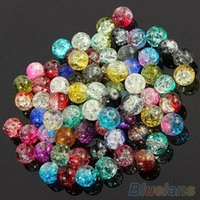Wholesale 100Pcs Set DIY Decoration Crystal mm Crack Multi Colorful Glass Beads