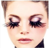 ball extension - Feather False eyelashes Halloween Colorful eyelashes extensions exaggerate costume ball eye lash wholesales pairs