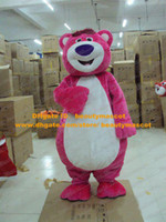 Wholesale Vivid Pink Lotso Fat Bear Mascot Costume Mascotte With White Belly Adult Size Party Outfit Suit Fancy Dress No