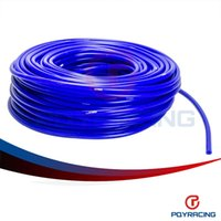 Intake Pipe Blue usual PQY STORE-Universal SAM Style 50M Super Vacuum Silicone Hose - ID: 4mm OD:9MM - Blue ,100% Silicone material PQY-VSL4MM
