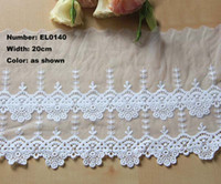 Wholesale EL0140 new yards cm Wide Lovely Flowers Embroidery Lace Embroidered Water Soluble Cotton Cloth Lace Embroidery Trim Ribbon