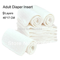 Wholesale 5pcs Adult Cloth Diaper Insert or Nappy Nappies Insert Layers Thickened Adult Diapers Insert ADI
