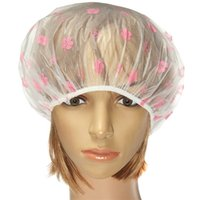 Wholesale 5 pieces Clear Flower Waterproof Bathed Cap Environmentally Friendly Pastoral Style Shower Makeup Mask Caps