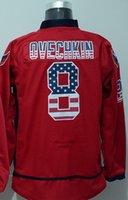 alexander design - Factory Outlet Alexander Ovechkin Jerseys New Design Red Nationals Flag Edition Jerseys Alexander Ovechkin Mens Ice Hockey Jerseys Fast