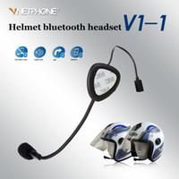 Wholesale Pro V1 Motorcycle Motorbike Sport Mobile Phone Bluetooth Helmet Headset V3