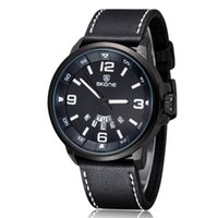 Wholesale New Arrival Luxury Leather Watches Sports Watches Luminous Watches Date Calender Quartz Movement Wristwatch For Men