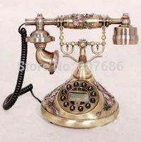 antique collectors - Antique Telephone Reproduction Retro Vintage Collectors Desktop Corded Phone Push Button Dial Telephone Old Style