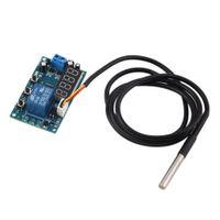 Wholesale Temperature Detector Module Temperature Display Detector Sensor Module Relay Switch Control Module Board Blue Digital