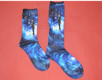 Wholesale Cosplay Doctor Who DW TARDIS D Printing Socks Xmas Gift Great Gift Short Long Two Types For Fans Men Women