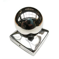 Wholesale 71 mm Stainless Steel Fence Post Cap with ball