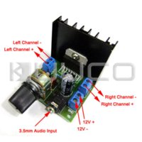 Wholesale 5 DC AC12V Digital Amplifier TDA7297F W W Dual Channel Amplifier Car Amplifier Audio Control Module dc power supply digital
