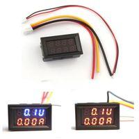 Wholesale Kimisohand Dual LED DC Digital Ammeter Voltmeter Panel Amp Volt Meter A V