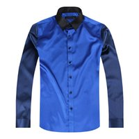 Wholesale long sleeve silk men casual shirts thin plus size men wedding mens dress shirt soft casual shirt man chemise MC001