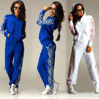 sexy tracksuit - 2015 new fashion Women Sexy Women Sports Tops Sweatshirt Pants Track Sweat Suits Tracksuit Outfit