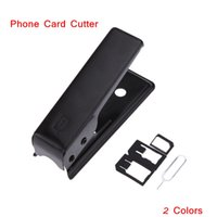 Wholesale Unviersal Micro Sim Cutting Tool Nano Card Cutter for iphone s s Plus Colors Sim Cards Cutters