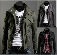 authentic clothing - Men s jacket Men s jacket coat collar cultivate one s morality Autumn and winter essential warm jackets authentic men s clothing
