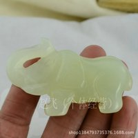 Cheap Jade wholesale hand-hand pieces 73mm Jade Elephant