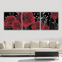 Cheap Decorative Paint Canvas Art Rose Wall Hanging Picture Pure hand-painted Painting