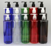 plastic shampoo bottles - 500ml Bottle PET Liquid Divide Bottle Cosmetic Bottle Plastic Pakcing Bottle Transparent PET bottle shampoo Bottle Spary Bottle