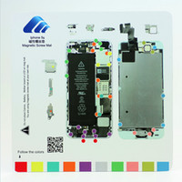 Wholesale New DYI Opening Tool Magnetic Full Screw Mat Memory Board For iphone plus S S C S Repair Disassemble Screw Plate Set Kit
