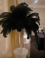 Wholesale black Ostrich Feathers inch Wedding Party Decoration